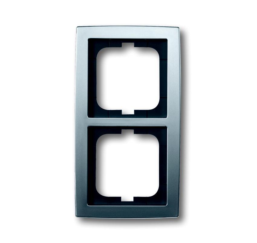 busch jaeger solo 1722 80 2 fach rahmen chrom matt. Black Bedroom Furniture Sets. Home Design Ideas