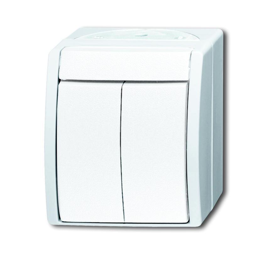 busch jaeger ocean ip44 2601 5 w 54 serienschalter ap alpinweiss schalter steckdosenshop. Black Bedroom Furniture Sets. Home Design Ideas