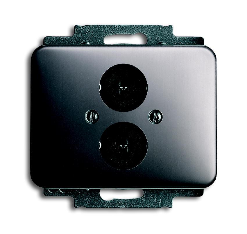 busch jaeger alpha nea 1751 20 lautsprecheranschlussdose 2x buchse platin schalter. Black Bedroom Furniture Sets. Home Design Ideas