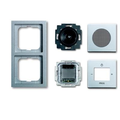 busch jaeger future linear 8220 183k up digital radio alusilber komplettset schalter. Black Bedroom Furniture Sets. Home Design Ideas