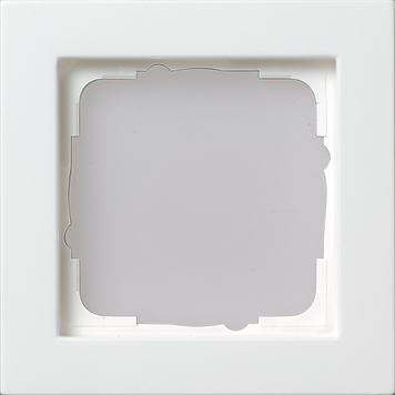 gira 021122 e2 rahmen 1 fach reinweiss seidenmatt schalter steckdosenshop organiska gira. Black Bedroom Furniture Sets. Home Design Ideas
