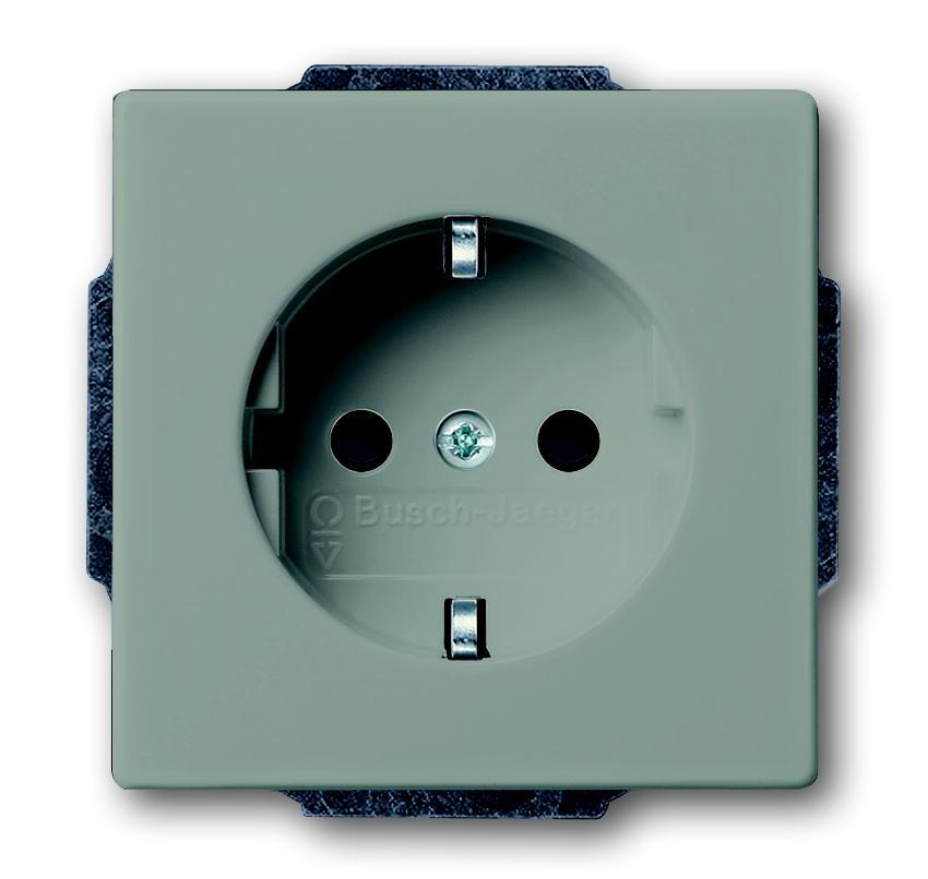 busch j ger future linear 20 euc 89 steckdoseneinsatz 1 fach stone lichtgrau schalter. Black Bedroom Furniture Sets. Home Design Ideas